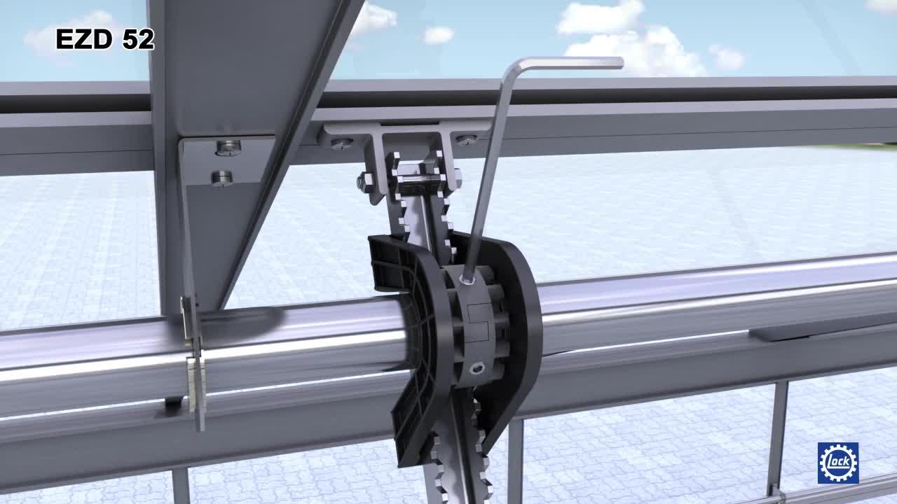 Lock Antriebstechnik -- lockdrives - EZD 52 Zahnradstangengetriebe Montage.mp4